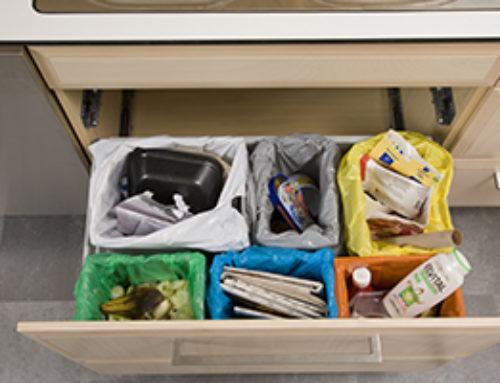Enkel lösning för att sortera avfallsfraktioner